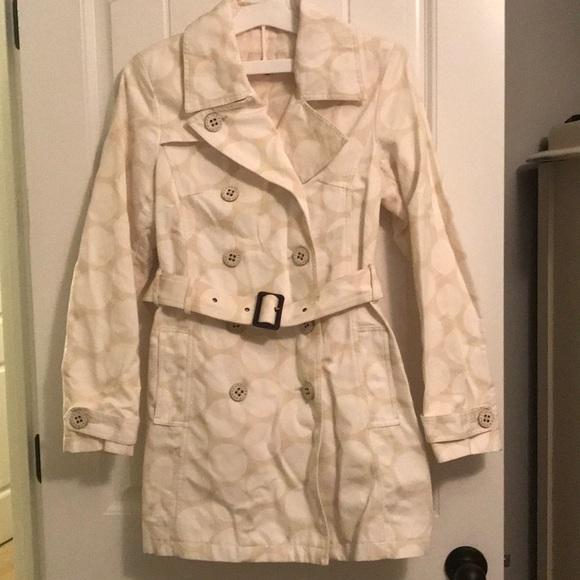 Merona Jackets & Blazers - Merona polka dotted trench coat